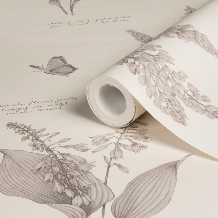 Linnaeus Dove Floral Butterflies Wallpaper | Departments | DIY at B&Q