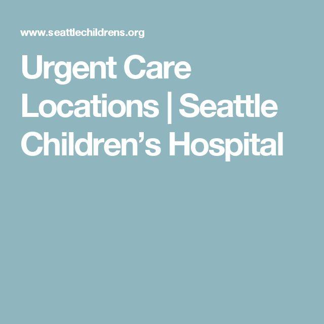 Urgent Care Locations | Seattle Children's Hospital
