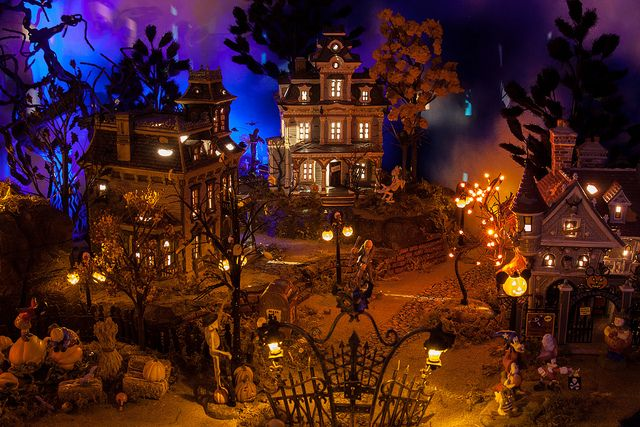 Halloween Village Display / Dept. 56 Halloween Display / - 2011 Halloween Village Display, via Flickr