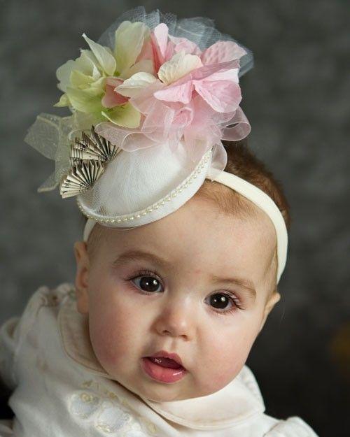 Baby Hat  Spring Easter Tea Party mini fascinator hat  door Amarmi
