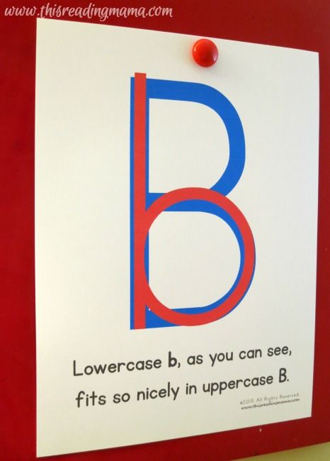 Easy Trick for B and D #Reversals - FREE Printable - Lower case b fits nicely inside the capital B. Just write the capital B first, then erase the top loop!