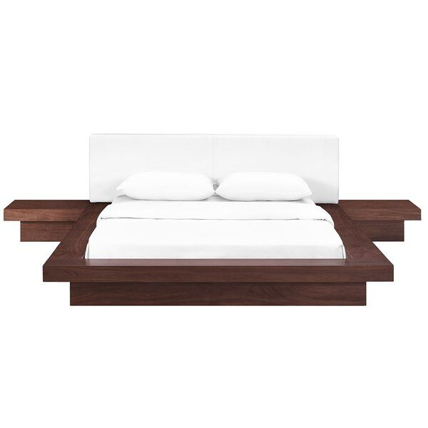 Best Rennan Queen Platform 3 Piece Bedroom Set Contemporary 400 x 300