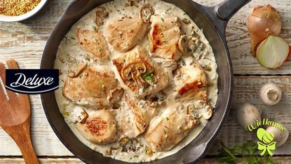 Kurczak w sosie pieczarkowym z estragonem