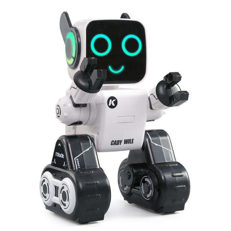 Shop best white JJRC (JJR/C) R4 CADY WILE 2.4G Intelligent Remote Control Robot Advisor RC Toy Coin Bank Gift for Kids from RcMoment.com at bargain prices.