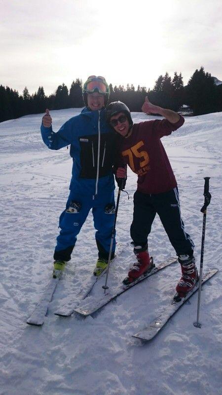 Learning to ski can be so much fun with the right ski instructor. #lenzerheide #switzerland #epicsnowsports #arosalenzerheide