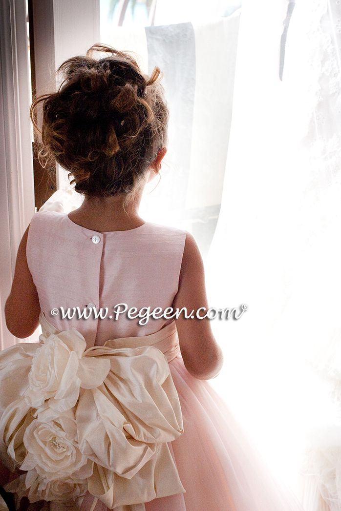 Flower Girl Dress by Pegeen.com. Available from infants thru plus sizes in 200 colors of silk and sleeve choices.  ~ Located 1 mile from Disney World, Selling online and shipping world wide. Call us for design help! 407-928-2377