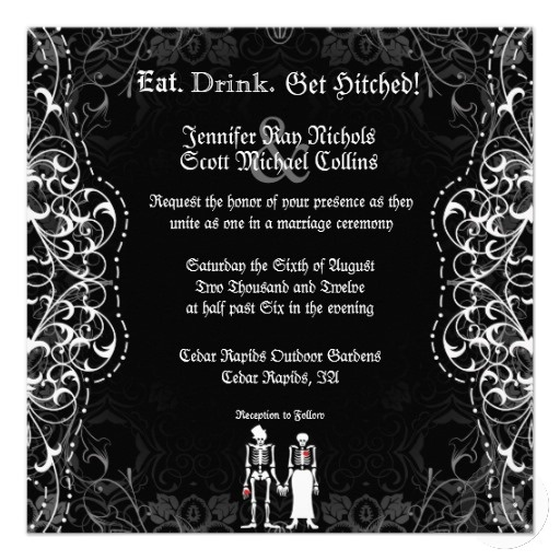 28 Best Images About Halloween Wedding Invitations On Pinterest