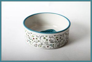 Ceramic Cat Bowls A Style That Is As Distinctive As Your Pet. DEI Ceramic Mr. Snugs Cat Collection Feeding Bowl, Blue Perfect size bowl for feeding your cat. It is handcrafted in a Blue Accent Design and is both dishwasher and microwave safe. http://theceramicchefknives.com/ceramic-cat-bowls/ DEI Ceramic Mr. Snugs Cat Collection Feeding Bowl, Cat Bowl, ceramic cat bowl