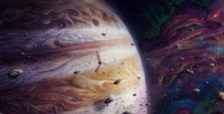 Jupiter and Juno by Anatoly Muschenko [OS] [30001524] (x-post from /r/ImaginaryStarscapes).