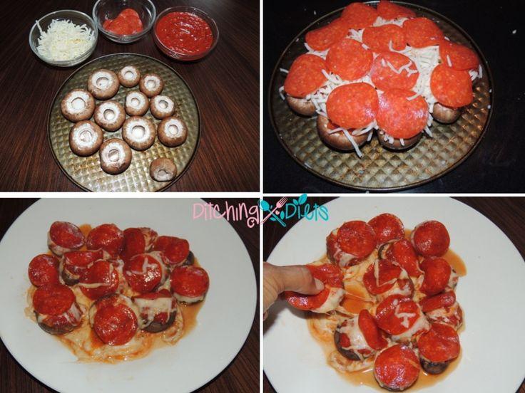 Portabello Pull Apart Pizza