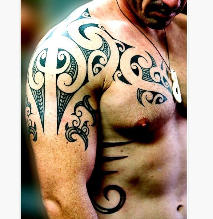 45 Best Maori Shoulder Tattoo Shield Designs Images On