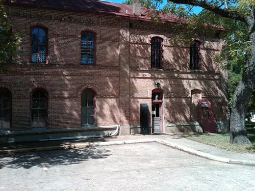 Old Jail House Mueum, Coldspring, TX  - noted for rare but never used hangman's trap. Built in 1887.