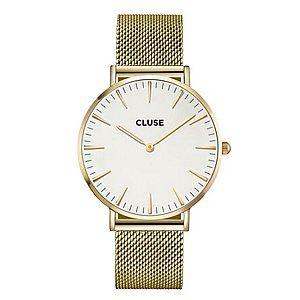 Cluse La Bohème Mesh Horloge - Goud/Wit