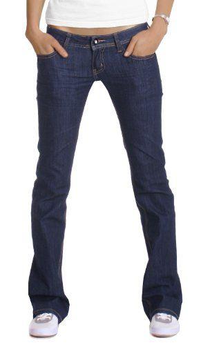Bestyledberlin Damen Jeans Hosen, Bootcut - Hüftjeans j98z
