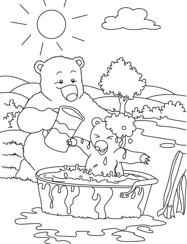 bear hunt coloring pages - photo#8