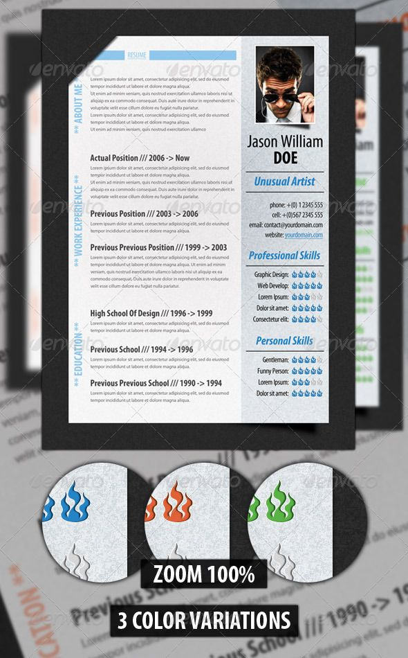 39 best Photoshop Resume Templates images on Pinterest Resume - Modern Resume Styles