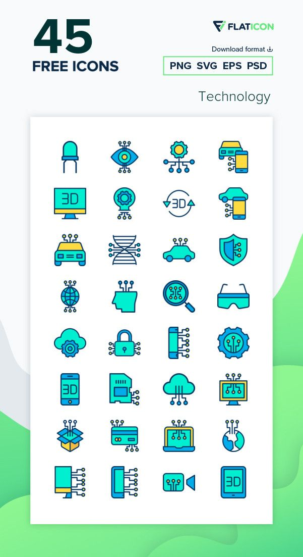45 Free Vector Icons Of Technology Designed By Kiranshastry Vector Free Free Icon Packs Technology Icon