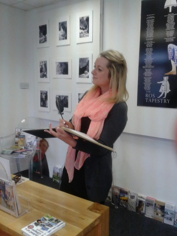 Another happy first time visitor today, Gemma Delaney signing our visitors  book. Glad you