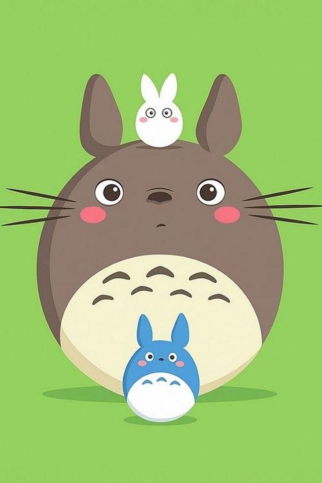 Cute Totoro Cartoon wallpaper mobile9 iPhone 6
