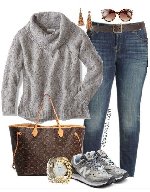 Plus Size Cowl Sweater Casual Outfit - Plus Size Fashion for Women - alexawebb.com