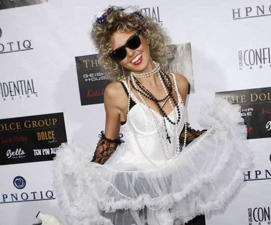 Pop Culture Costume Ideas to Steal From Celebrities: '80s Madonna We have to give Audrina Patridge props for going all out as the Material Girl for a red carpet bash.