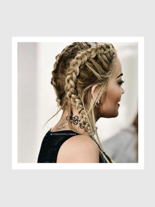 hello double braids! so geht die it-frisur der stars