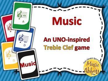 MUSIC: An UNO-inspired Treble Clef Card Game #musicclass #musiccardgame #musicsubidea