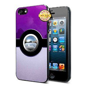 Pokemon, Purple Pokeball Phone Cases