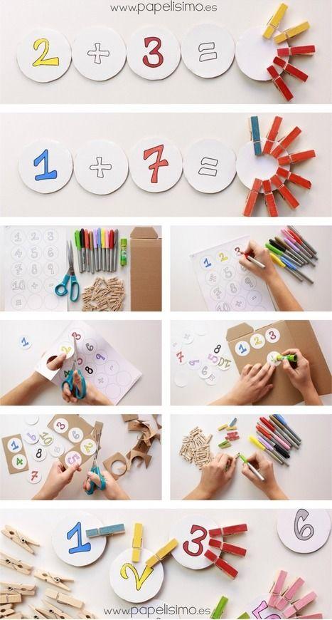 Juegos matemáticos para niños con pinzas - Papelisimo | Recull diari | Scoop.it