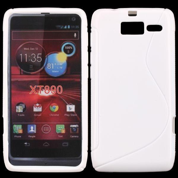 S-Line Solid (Hvit) Motorola RAZR i Deksel
