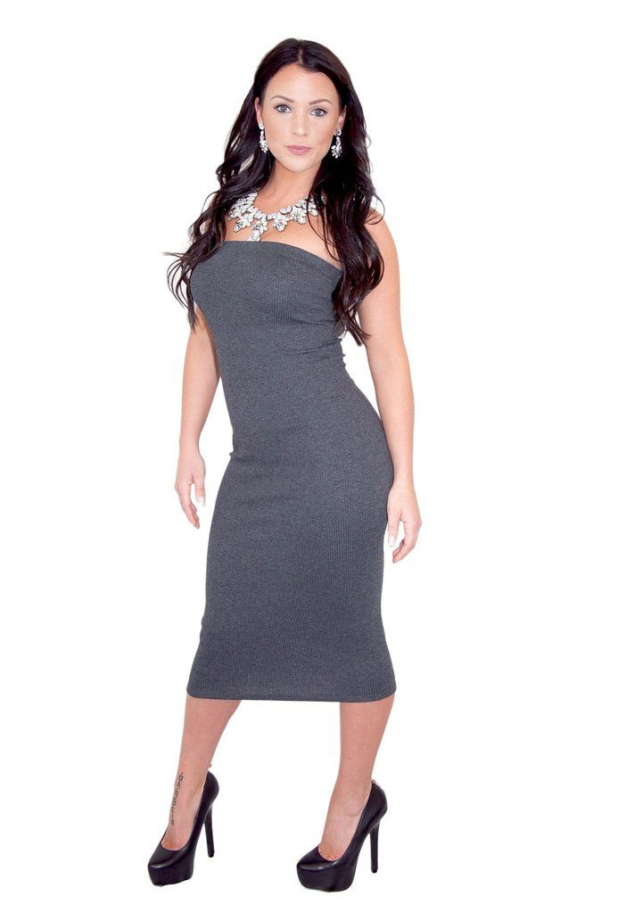 DOWNTOWN GIRL STRAPLESS DRESS