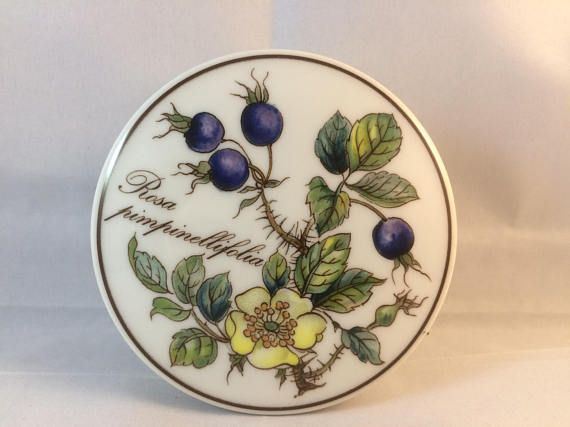 Villeroy and Boch botanica collection trinket pot  floral