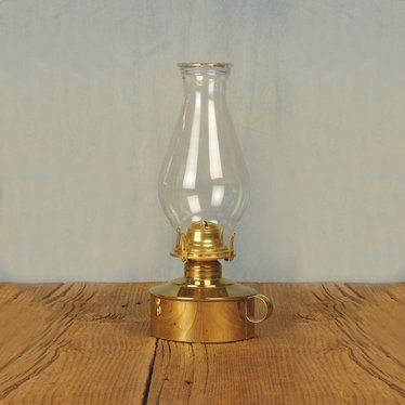 Solid Brass Table Oil Lamp