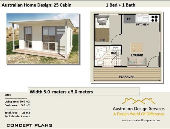 Small Cabin House Plan 25 Cabin 25 M2 269 Sq Foot 1 Etsy In 2020 Cabin House Plans Building A Tiny House Small Cabin Plans