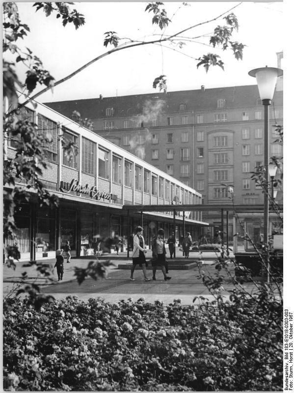 Dresden, Webergasse, 1967