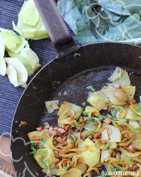 Low Carb Rezept für gebratenen Kohlrabi (falsche Bratkartoffeln). Wenig Kohlenhydrate und einfach zum Nachkochen. Super für Diät/zum Abnehmen.