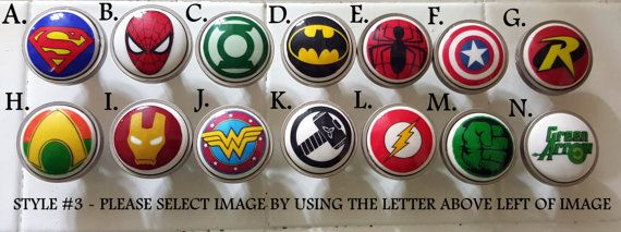 Superhero knobs / Bedroom Dresser Knob / by SilverStateDesigns