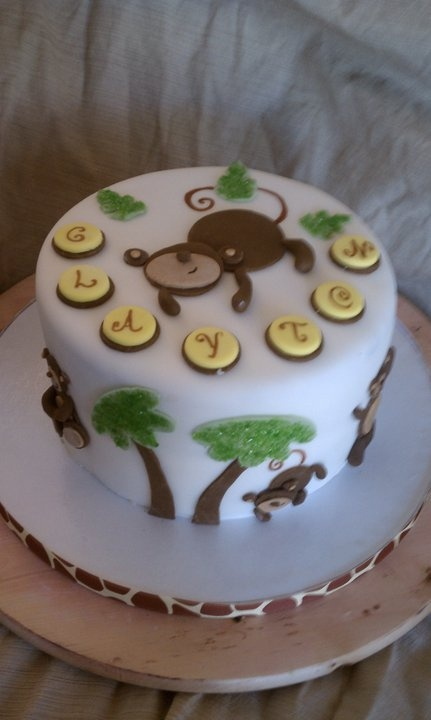 80 best images about gorilla 39 s monkey 39 s cakes on pinterest birthday cakes monkey business - Baby shower monkey theme cakes ...