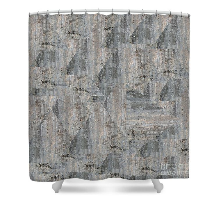 Concrete Wall Shower Curtain by Sverre Andreas Fekjan.  This shower curtain is made from 100% polyester fabric and includes 12 holes at the…