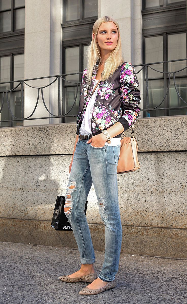 mural fashion: bomber jacket da vez tem estampa floral
