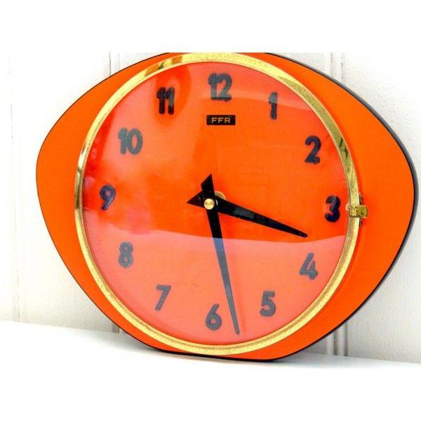 112 best pendules 50 39 s60 39 s images on pinterest pendulum clock the hours and clock for Recherche pendule murale