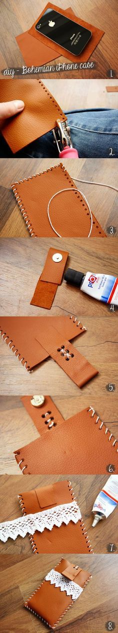DIY Sewing Gift Ideas for Adults and Kids, Teens, Women, Men and Baby - DIY Bohemian Style iPhone Case - Cute and Easy DIY Sewing Projects Make Awesome Presents for Mom, Dad, Husband, Boyfriend, Children http://diyjoy.com/diy-sewing-gift-ideas