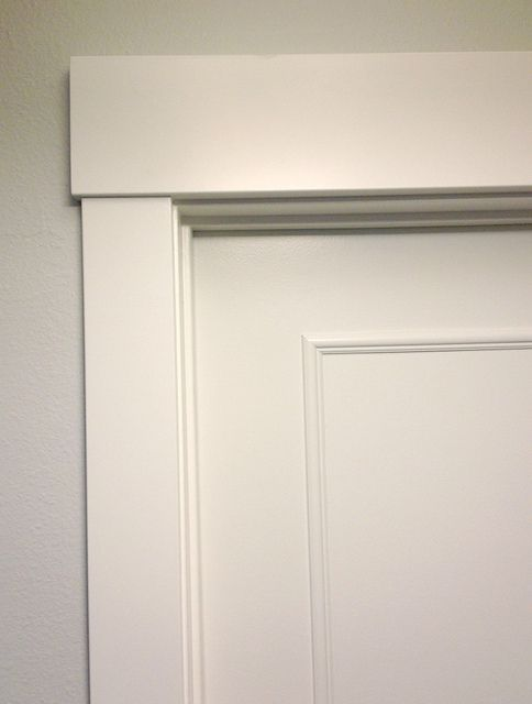 Upgrade flat panel door with trim. Drastic difference for not a lot of work. & Best 25+ Interior door trim ideas on Pinterest | Door molding ... Pezcame.Com