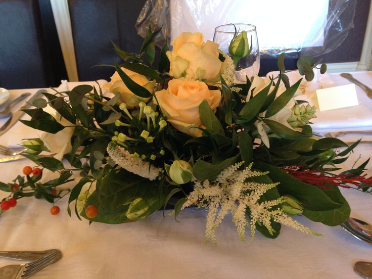 Stunning scented roses for the tables - peaches and creams.