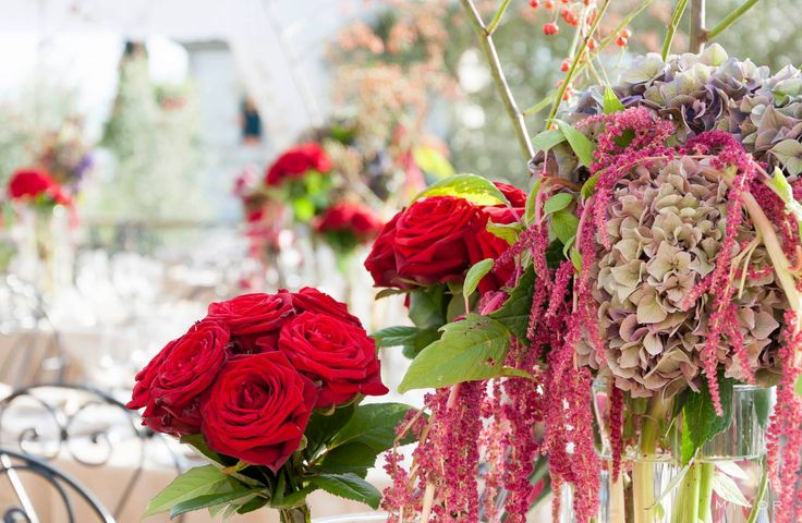 Flowers by Jardin Divers www.jardindivers.it @jardindivers  birthday party, elegant red party, terrace birthday, wedding in tuscany, wedding flowers, romantic wedding, italian wedding, wedding destination, wedding in Italy, wedding in Florence, royal wedding, villa wedding, wedding inspiration, wedding idea, wedding design, flower design, red wedding, bourdot wedding, birthday with a view, settignano
