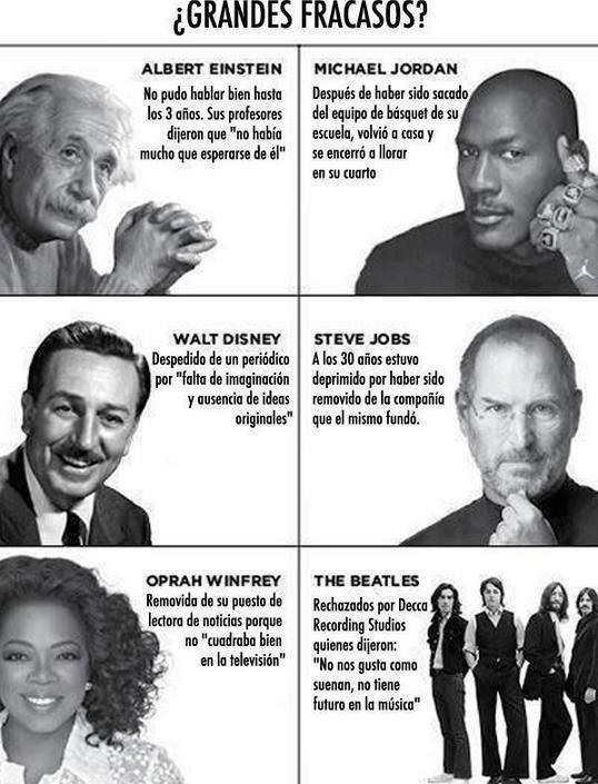 Fracasa, arriésgate, el fracaso es requisito indispensable del éxito.  Si tienes dudas, responde tú mismo, no preguntes a nadie, mírate a un espejo.