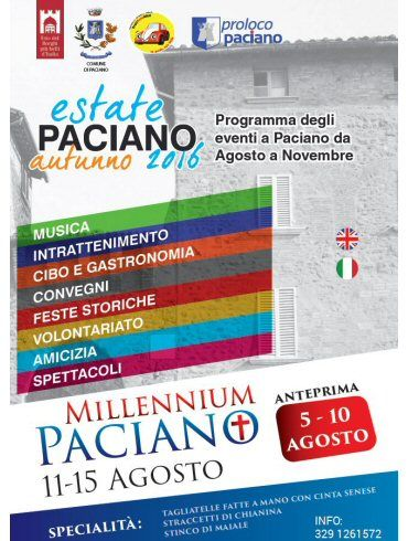 Discover what you can do in Paciano this August