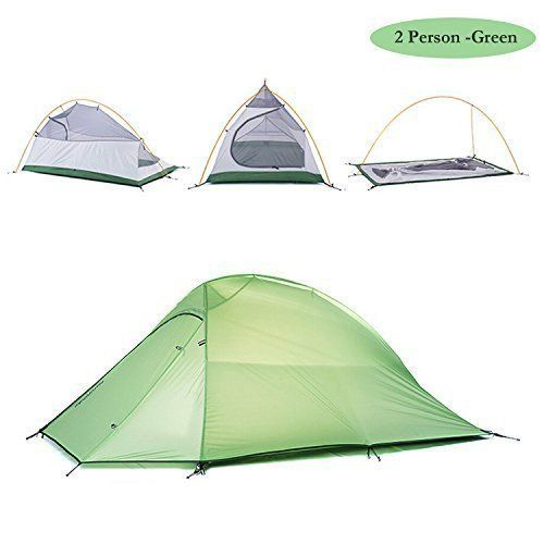 WEANAS 2-3 Person 4 Seasons Ultralight Double Layer Backpacking Tent