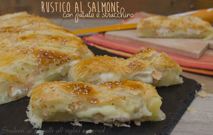 rustico al salmone patate e stracchino ricetta di pesce con salmone affumicato
