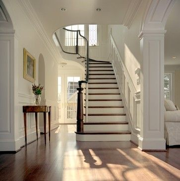 Traditional Entry Photos Crown Molding With Posterior Staircase Design, Pictures, Remodel, Decor and Ideas - page 4